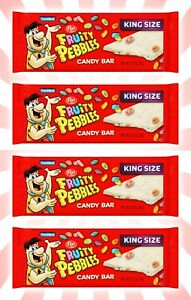 4 Fruity Pebbles Candy Bars King Size Post Cereal 2.75 OZ EXP 10/22