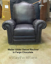 100% Hand Cut Top Grain Leather Fargo Chocolate Recliner Dark Brown Made In USA