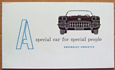 PAMPLET ~ CORVETTE OWNERS WELCOME ~ FEATURES 1958 CORVETTE