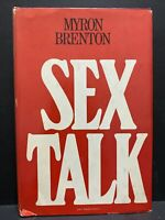 1972 Sex Talk by Myron Brenton Hardcover  Dust jacket  VG condition  Stein and D