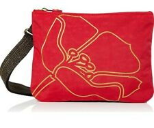 Kipling Mai across body bag pouch red gold flower new rrp£48