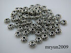 FERR Lots Handmade Jewelry Making Tibetan silver Small SPACER Loose beads 4mm