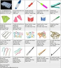 New 20 Basic Knit/Crochet Tool In Case,Stitch Accessory Kit,Scissor/Marker/Ruler