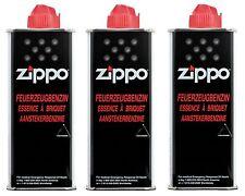 ZIPPO Feuerzeug Benzin 3 x 125 ml Feuerzeugbenzin NEU