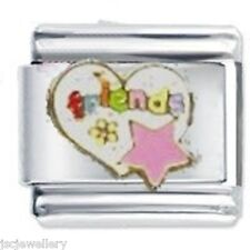 FRIENDS HEART & STAR - Daisy CHARM Fits Nomination Classic Size Italian Charm