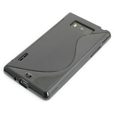 Silicona Funda TPU móvil-bolsa de protección-funda lg optimus l7 p700/p705 negro