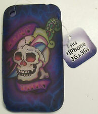 iPhone 3G 3Gs TPU gel case cover skin skull knife love kills phone apple biker