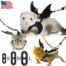 Leash Harness Lizard Totoro Ferret Rope Bearded Dragon Small Pet Strap 3 Sizes