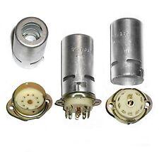 9pin Ceramic Tube Socket Shield 55mm USSR for 12AX7 12AT7 ECC83 E88CC 6 pcs