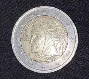 Rare 2 € Italie 2002  Dante Alighieri Italie Euro