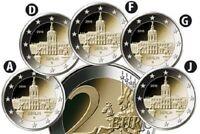 Deutschland 5 x 2 Euro 2018 - Schloss Charlottenburg - Satz Bankfrisch