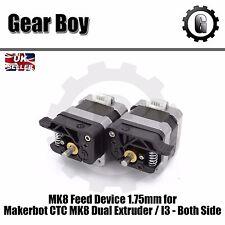 Dispositivo de alimentación MK8 para Makerbot CTC MK8 Doble Extrusor/I3-ambos lados