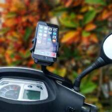 PORTA Cellulare MOTO Vespa SCOOTER Supporto SPECCHIETTO Regolabile SMARTPHONE