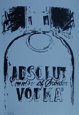 Limited POP ART edition silkscreen serigraph, bottle, signed Andy Warhol w DOCS