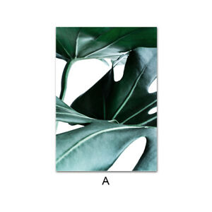 Nordic Green Plant Leaf Canvas Poster Minimalist Wall Art Picture Modern Decor