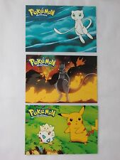 POKEMON THE FIRST MOVIE POST CARD SET OF THREE (3) DIFFERENT CARDS