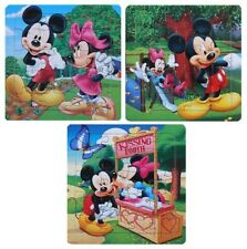 3 in 1 Mickey Mouse Minnie Mouse Cartoon Puzzle Jigsaw Kids Learning Bday Gift
