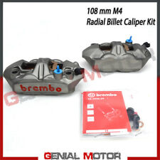 Kit Pair Radial Brake Calipers Brembo Racing M4 SX DX Monobloc 108 Mm With Pad
