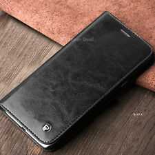 for Samsung Galaxy S8 Plus Leather Pouch Real Cover Case Sleeve Black