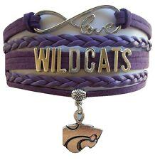 Kansas State University Wildcats College Infinity Bracelet Jewelry Apparel