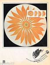 PUBLICITE ADVERTISING 065  1966  PRISUNIC  nappe  FLORINE