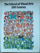 "Milton Glaser ""School of Visual Arts"" NYC 1977 Poster autorisé REPRO ""Pop Art 7"