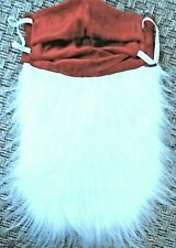 SANTA CLAUS BEARD face mask Christmas novelty