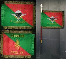 FANION souvenir brodé 2ème REP - monté sur hampe Légion - Légion étrangère