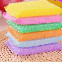 Kitchen Accessories Nonstick Oil Scouring Pad Cleaning Bowl Cloth Sponge Brush