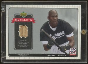 2001 Upper Deck MJ Salute #MJB5 Michael Jordan White Sox Used Bat Relic