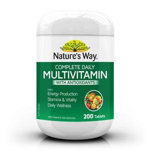 Multi-Vitamin Nature's Way Complete Daily Multivitamin W/Antioxidants 200tab