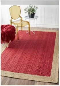 4x6 feet square hand woven braided working place rug indian braided floor rugs