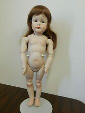 """Antique Reprod.16"""" K*R #114 All Porcelain Doll w/Jointed Body, Artist D.Wilcox"""