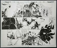 ORIGINAL ART, DEADPOOL #3 (2019) pgs #2 & #3; 2-PAGE SPREAD Chris Bachalo A#1163