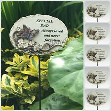 Memorial Bronze 3D Butterfly Stick Stake Pick Plaque Tribute Graveside Ornament
