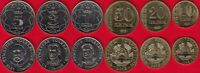 Tajikistan set of 6 coins: 10 diram - 5 somoni 2018 UNC
