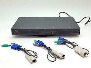 Avocent DSR4030 16-Port Gigabit Ethernet KVM Over IP Swich+3*AVRIQ PS2 SIM