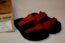 Loints Summerbreeze 37 7.5 M Flats Red Nubuck Leather Sandals Mule Shoe Womens