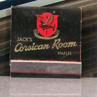 Vintage Matchbook K6 California Long Beach Jack's Corsican Room Naples Dragon