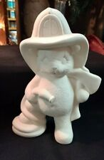 FIRE FIGHTER - BEAR -READY TO PAINT FOR YOUR FAVORITE FIREFIGHTER!!!