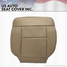 2004-2008 07 Ford F150 Driver Side Bottom Leather Seat Cover Medium Pebble Tan