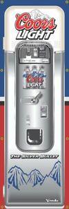 Coors Light Silver Bullet Beer Vintage Vending Machine 2'X6' Vinyl Banner