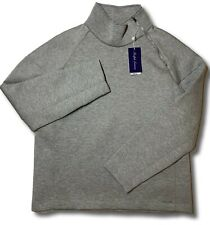 $595 Ralph Lauren Purple Label Gray Mock Sweater Size XXL Made in Italy