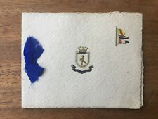 RARE WW1 H.M.S WRYNECK ROYAL NAVY CHRISTMAS CARD MILITARIA GREECE WW2 (F1P3)
