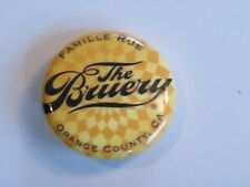 BEER BUTTON Pinback ~ The BRUERY ~ Orange County, CALIFORNIA Brewery Est.  2008