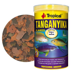 Professional ~TROPICAL TANGANYIKA CICHLID~ Flake Fish Food With Krill & Squaid