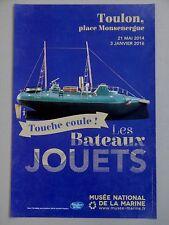 LES BATEAUX JOUETS Affiche Marine Torpilleur Boats toys Boot Spielzeuge Märklin