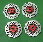 1/10 Scale On Off Road Wheel 12mm Hub Brake Disc Disk Alloy Red x 4