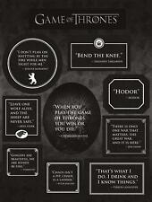 *New* Game of Thrones: Quotes Magnet Set by Dark Horse