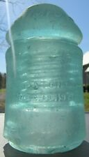 CD 126.4 W.E. MFG. Co. Glass Insulator - Iced Aqua